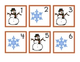 Winter and Christmas calendar numbers