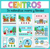 Winter and Christmas numbers 1-20 Boom Cards bundle in Spanish