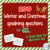 Winter and Christmas speaking prompts for ESL