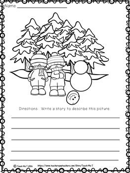 Winter and Holiday Coloring Activity Sheets