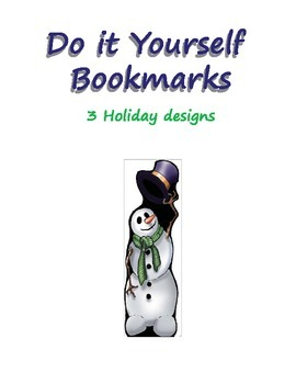Winter and Holiday Themed Bookmarks - Print, Cut and Color!