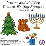 Winter and Holiday Themed Writing Prompts on Task Cards