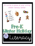 Winter and Holiday Word Wall Words