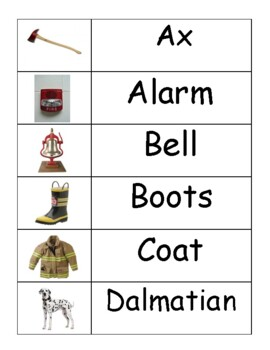 Fire Safety Word Wall Words