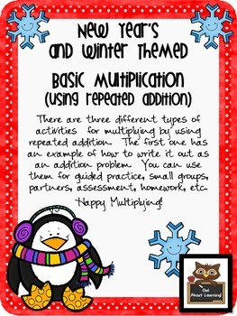 Winter and New Year's Themed Repeated Addition and Multiplying Fun!