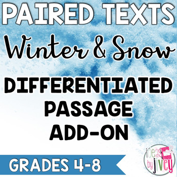 Winter and Snow Differentiated ADD-ON for Grades 4-8