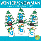 Winter and Snowman Themed Letters and Number Cards