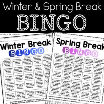 Winter/Spring Break BINGO K-2