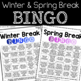 Winter/Spring Break BINGO K-2