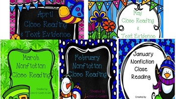Winter and Spring Close Reading Bundle