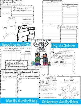 Winter and Spring Sub Plans K-2  Combo Pack