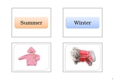 Winter and Summer Clothes - Matching Activity