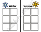Winter and Summer Kids Sorting File Folder Game for Special Education