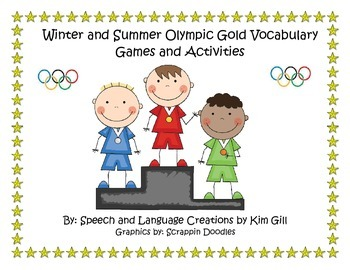 Winter and Summer Olympic Gold Vocabulary Games and Activities