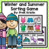 Winter and Summer (Seasons/Weather) Sorting Game