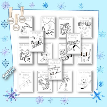 Winter and Summer Sports Coloring Pages Bundle