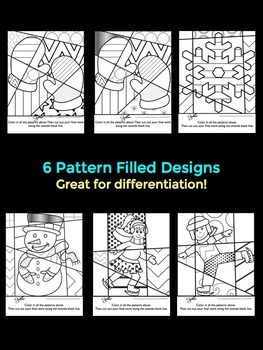 Winter Activities: Interactive and Pattern Filled Coloring + Writing