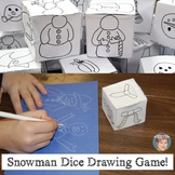 Free Snowman Drawing Game (using drawing cubes) Free Winte