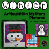 Winter articulation mystery pictures for s and s-blends
