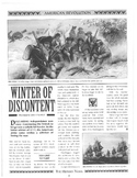 Winter at Valley Forge Story and Worksheet