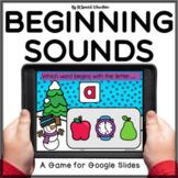 Winter beginning sound review Google Slides activity