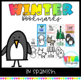 Winter bookmarks in Spanish
