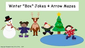 "Winter ""box / table"" Jokes & Arrow Mazes: fine motor, no prep, SPED 12345"