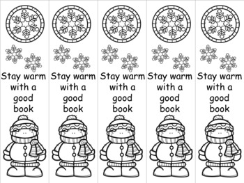 Winter boy bookmark