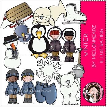 Winter clip art - COMBO PACK- by Melonheadz