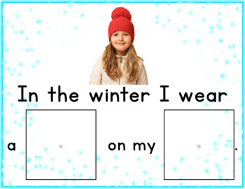 Winter Clothing - Adapted Book for Autism