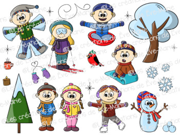 Winter characters Clipart