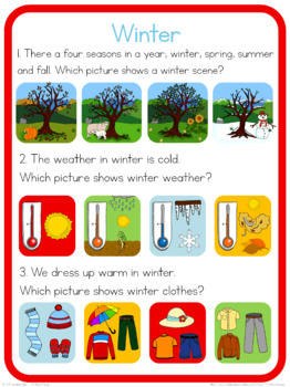 Winter circle time questions