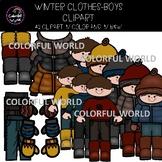 Winter clothes-Dress the boy