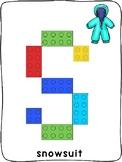 Winter clothes ESL - Lego plastic building brick activity mats