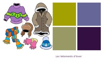 Winter clothing vocabulary in French