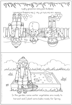 Winter coloring booklet