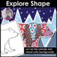 Winter coloring pages - animal doodles, art and writing activity