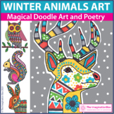 Winter Coloring Pages | Animal Art and Writing Activities