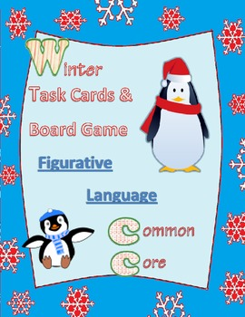 figurative language task cards / board game test prep