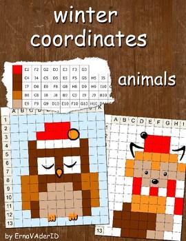 Winter coordinates graph - animal pixels