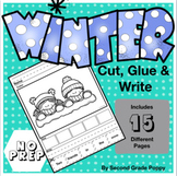 Winter cut, glue, sort & write sentences