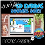 Winter  -ed ending id, t, d sound sort boom cards *distance learning