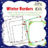 Winter frame borders (18 sets)