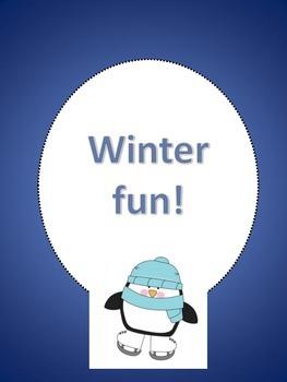 Winter fun language arts