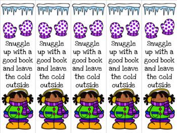 Winter girl bookmark