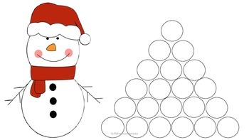 Winter holiday Themed Dauber Games for Repetitive Articulation Practice