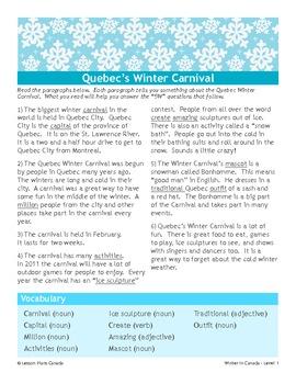 Winter in Canada: Quebec's Winter Carnival (ESL 2)
