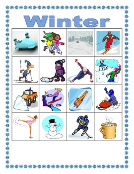 Winter in English Bingo