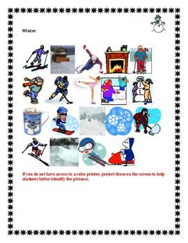 Winter in English crossword