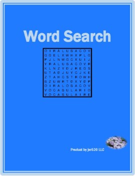 Winter in English wordsearch
